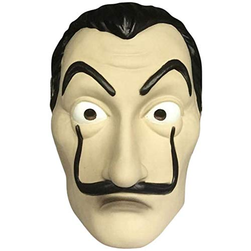 Salvador Dali Mask Realistic Halloween Costume Party Mask Latex Face Mask -
