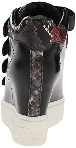 As-womens Attack Fashion Sneaker Zwart / Bordeaux