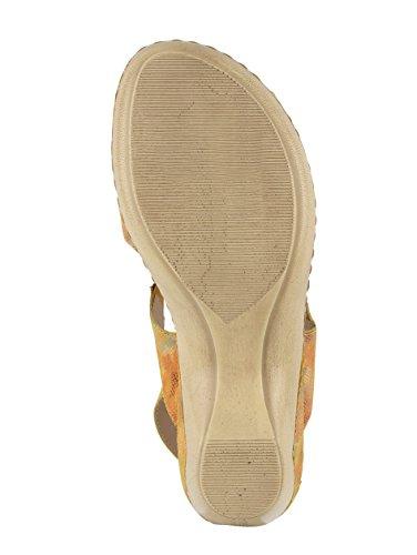 Mejor vendido Venta caliente de Outlet Damen Capricho Sandale Gelb / Multi Liquidación Ofertas baratas en línea Proveedor más grande en línea barato SMmzM0ds9