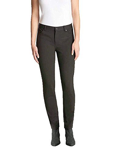 Herringbone Petite Belt - Andrew Marc Womens Micro Print 5-Pocket Stretch Dress Pant (Charcoal Multi, 2)