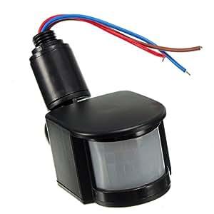 TOOGOO(R) Outdoor 12V DC Automatic Infrared PIR Motion Sensor Switch for LED Light, Black