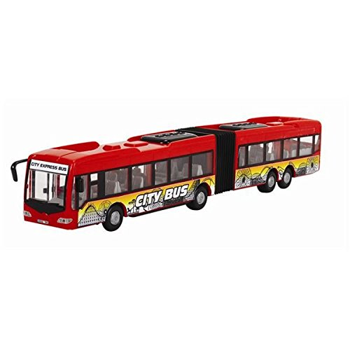 Dickie Toys 203748001 - City Express Bus, Gelenkbus, 46 cm