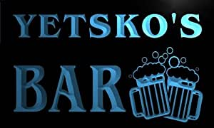 w089167-b YETSKO Name Home Bar Pub Beer Mugs Cheers Neon Light Sign