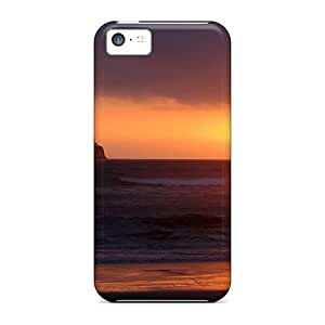 LJF phone case Hot Tpu Cover Case For Iphone/ 5c Case Cover Skin - Sunset Tropical