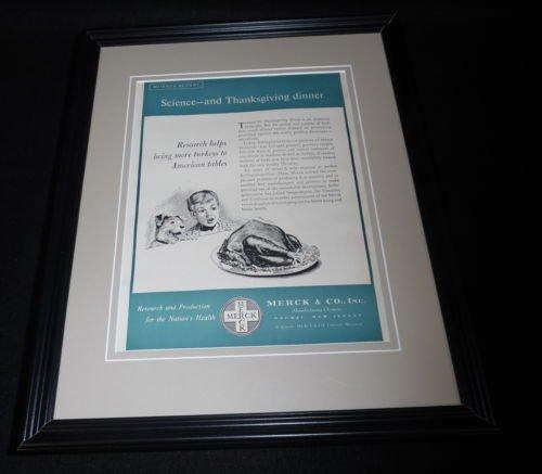 Original 1951 Framed Advertisement - 4