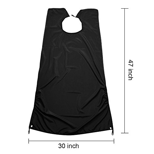 amtok beard catcher bib apron beard cape for shaving trim your beard in minutes without the mess. Black Bedroom Furniture Sets. Home Design Ideas