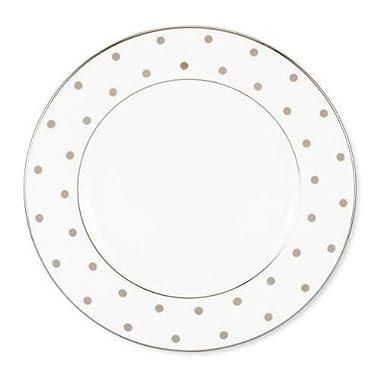 kate spade new york Larabee Round Platinum Salad / Dessert Plate Set/4
