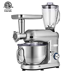 VIVOHOME 3 in 1 Electric 650W Multi-functional 6-Speed Tilt-Head Kitchen Stand Mixer Meat Grinder Juice Blender with 6… 15