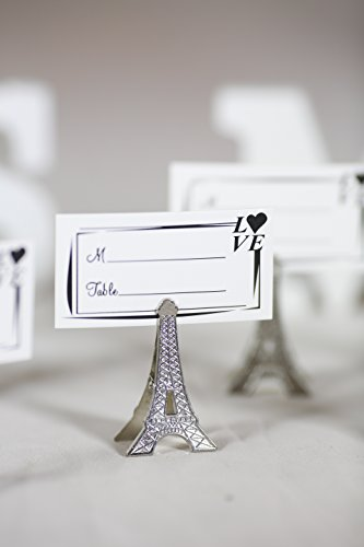 Eiffel Tower Place Card Holders - 50pcs Small Silver Vintage Eiffel Tower Place Card Holder Clips Paris Wedding Favor Rustic Decoration Memo Photo Holders