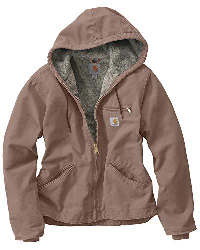 Carhartt Women's Sherpa Lined Sandstone Sierra Jacket (Regular Sizes), Taupe Gray, XX-Large Plus