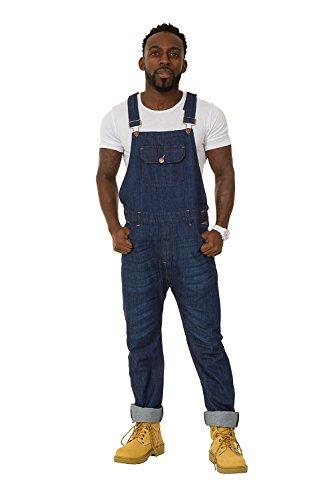 [해외]USKEES Jesse 스키니 피트 맨즈 턱받이 작업복 - 인디고 데님 오버올 슬림 다리/USKEES Jesse Skinny Fit Mens Bib Overalls - Indigo Denim Overalls Slim Leg
