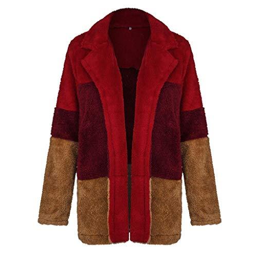 Luckycat Chaqueta de Invierno Mujer,Abrigo de Cremallera de Felpa Jersey de Solapa Suéter de Terciopelo de Cordero Abrigo de Lana