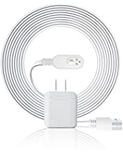 10FT Magnetic Charging Cable with Wall Charger Adapter,Indoor Power Supply Flat Magnet Cord Compatible with Arlo Ultra 2,Pro 3,Pro 4,Arlo Cam Camera 15 Accessory
