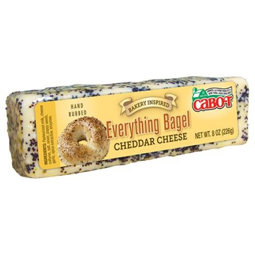 Everything Bagel Cheddar Cheese, 8 oz. (3 pack) by Cabot Creamery