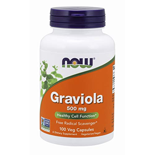 NOW Supplements, Graviola (Annona muricata) 500 mg, Healthy Cell Function*, 100 Veg Capsules