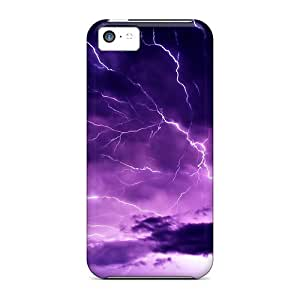 Tpu Shockproof/dirt-proof Purple Sky Cover Case For Iphone(5c)