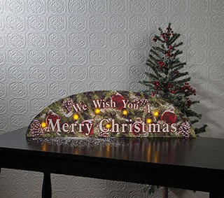 merry christmas lighted canvas door arch sign