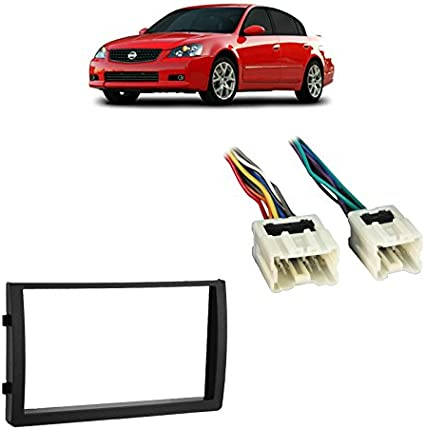 Nissan Altima 2002 2003 2004 Aftermarket Radio Stereo Installtion Install Mounting Trim Double Din Dash Kit Wire Harness Custom Install Parts