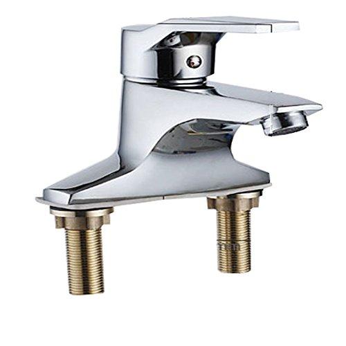 IJIAHOMIE Waschtischarmatur Badarmatur Wasserhahn Bad,Wassersparfunktion,Wasserfall Wasserhahn Kupfer, Einhebel, Doppel-Loch, heiß und Kalt, Waschbecken