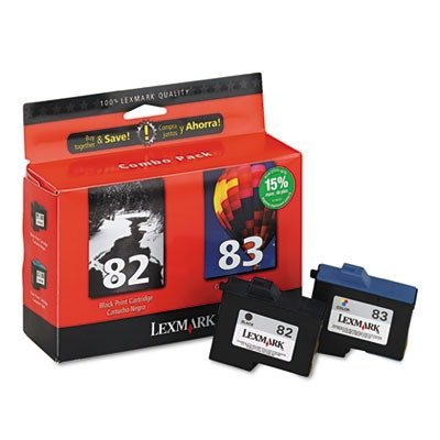 5 X Lexmark 18L0860 (82, 83) Inkjet Cartridge - 18L0860 Ink, 2/Pack, Black; Tri-Color
