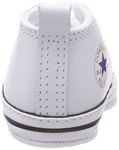 1742f266f9bb Converse First Star Hi White Leather 81229 Crib Size 4 available in ...