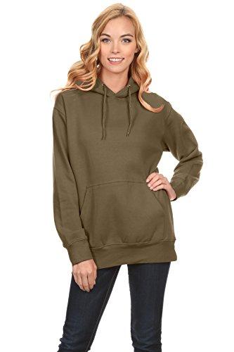 - Simlu Fleece Pullover Hoodies Oversized Sweater Reg and Plus Size Sweatshirts, Army Green, XX-Large