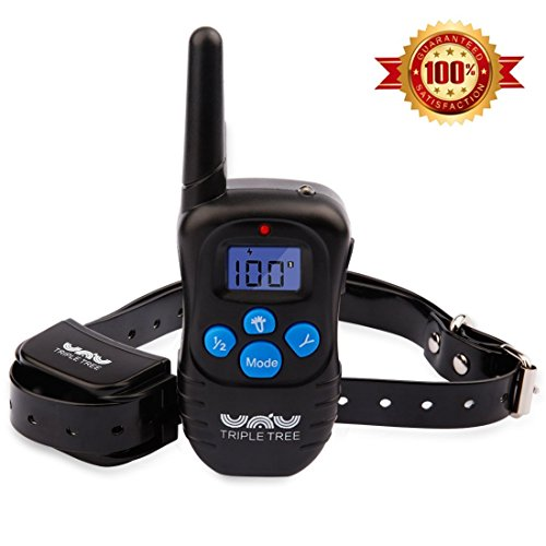 Triple Tree Dog Training Collar, Rechargeable Waterproof Dog Shock Collar with 330yd Remote Beep/Vibration/Shock/Light...