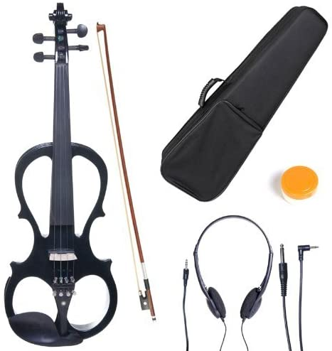 Cecilio 4/4 CEVN-1BK Solid Wood Electric/Silent Violin with Ebony...