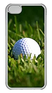5C Case, iPhone 5C Case, Personalized Hard PC Clear Shoockproof Protective Case Cover for New Apple iPhone 5C - Golf