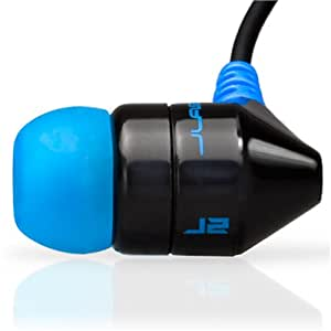 JBuds J2 Premium Hi-Fi Noise-Isolating Earbuds Style Headphones (Black/Electric Blue) (Discontinued by Manufacturer)
