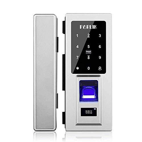 (No Drill,Security Biometric Fingerprint Door Lock for Glass Door,Password Door Lock with IC Cards)