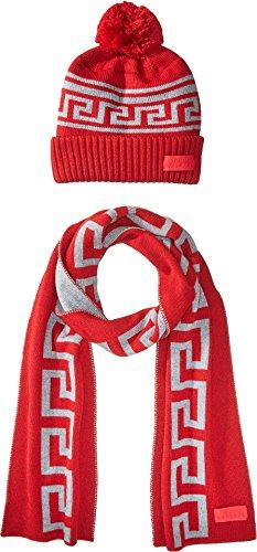 Versace Kids  Boy's Greca Hat & Scarf Set (Big Kids) Red/Grey 13/14 by Versace