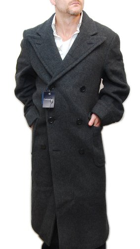 Polo Ralph Lauren Mens Cashmere Wool Overcoat Coat Suit Jacket Italy Grey 40L