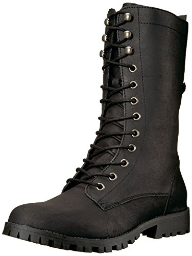 Mid up Women's Boot Calf Tegan Combat Black Sugar Lace tSBdIIx