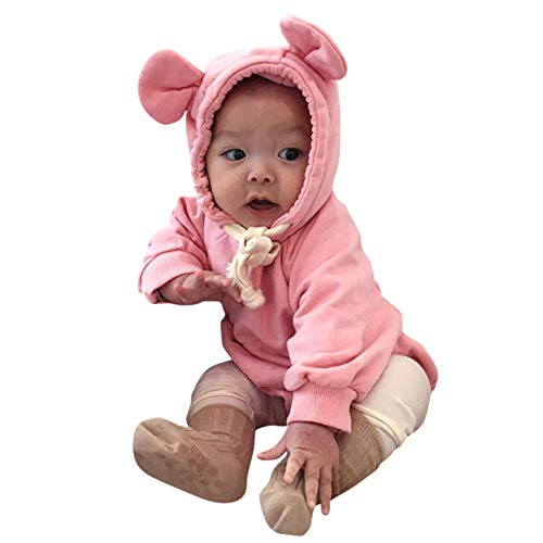 Baby Boy Girl Cartoon Bear Fleece Snowsuit Winter Warm Thick Hooded Coat Jacket -
