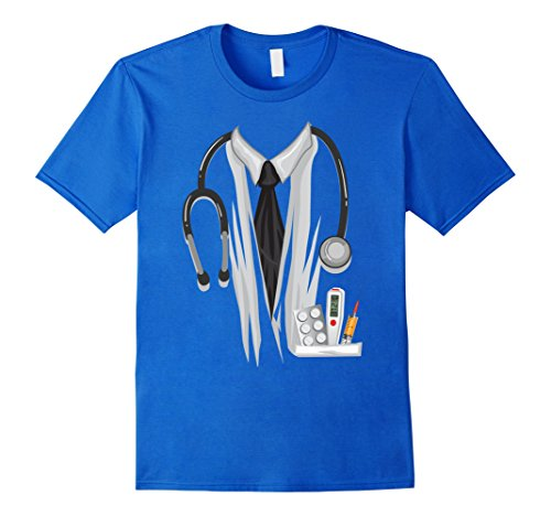Mens Doctor Halloween Costume Shirt - Great Nurse Outfit Gift Tee Small Royal Blue (Great College Male Halloween Costumes)