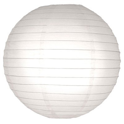 Perfectmaze 12 Piece 36'' (Inch) White Round Chinese Paper Lantern for Wedding Party Engagement Decoration by Perfect Maze