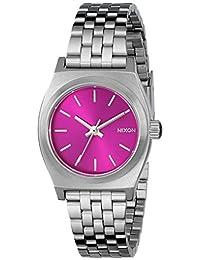Nixon Women's A3991972 Small Time Teller Analog Display Analog Quartz Silver Watch