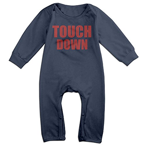 Babe Ruth Baby Costume (HOHOE Babys Touch Down Long Sleeve Bodysuit Outfits 12 Months)