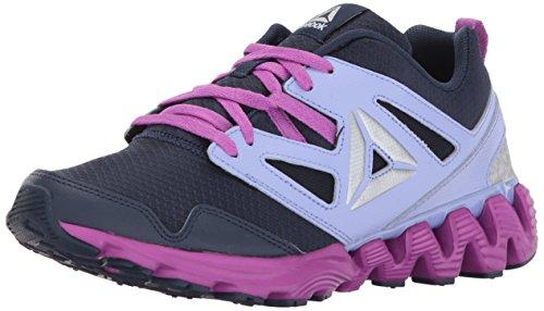 Cola Footwear (Reebok Unisex-Kids Zigkick 2K17 Sneaker, Collegiate Navy/Lilac Glo, 13.5 Little kid)