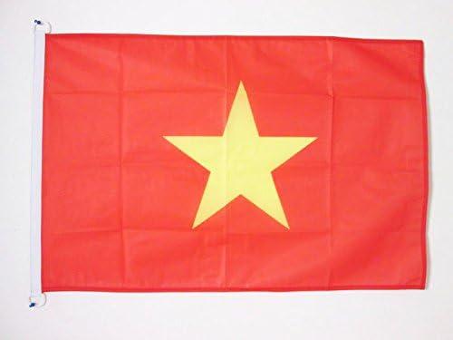 VIETNAMESISCHE BOOTSFAHNE 30 x 45 cm Marine flaggen Top Qualit/ät AZ FLAG BOOTFLAGGE Vietnam 45x30cm