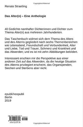 Das Altern Eine Anthologie German Edition Renate