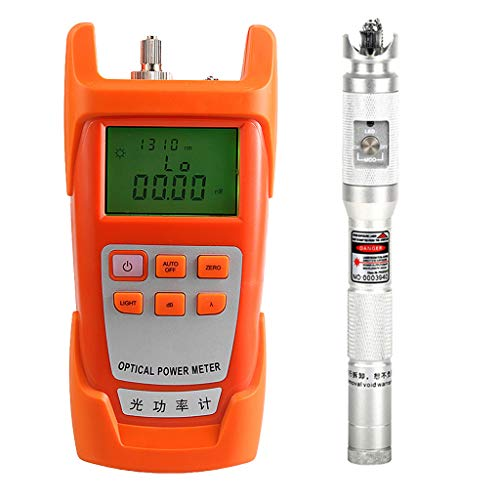 Baosity 1Set Fiber Optic Cable Tester Optical Power Meter with Sc & Fc Connector Fiber Tester +20mW Visual Fault Locator for CATV Test,CCTV Test Silver by Baosity (Image #3)