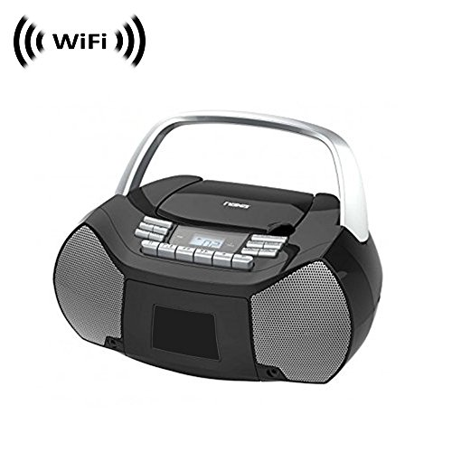 Wireless Spy Camera with WiFi Digital IP Signal, Recording & Remote Internet Access (Hidden in a Boombox)