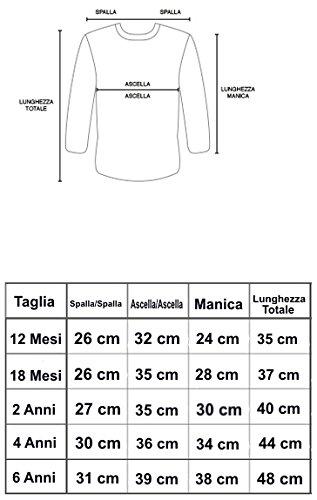 PLEASE T-SHIRT MAGLIA  BAMBINA AUTUNNO INVERNO  6 9 12 24 MESI MADE ITALY