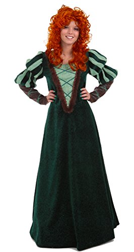 Adult Women's Forest Princess Brave Costume Dress (Medium (8-10)) (Brave Adult Costume)