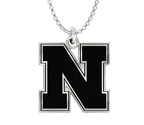 University of Nebraska Huskers Sterling Silver Cut Out Logo Charm Pendant 18