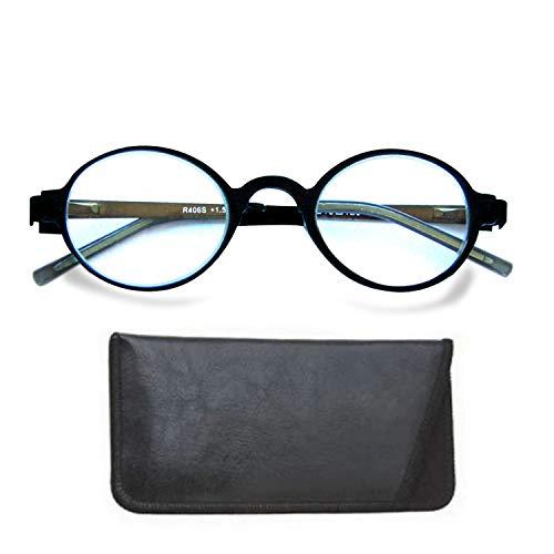 Boomer Eyeware Classic Stylish Round Signature Specs, Deluxe Upmarket Reading Glasses for Men & Women, 1.75, ()