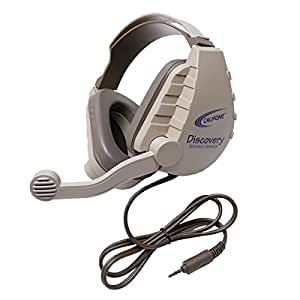 Califone 1583808 Discovery Stereo Headset with 3.5 mm to Go Plug44; Grey & Beige