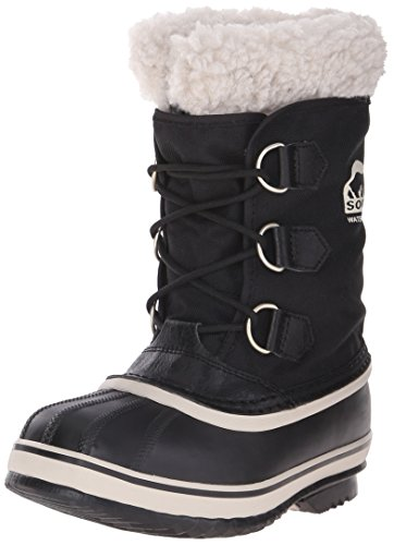 Sorel Yoot Pac Nylon Cold Weather Boot (Toddler/Little Kid/Big Kid), Black, 6 M US Big Kid (Kids Boots Sale compare prices)